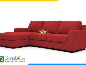 Sofa góc đẹp màu đỏ nổi bật