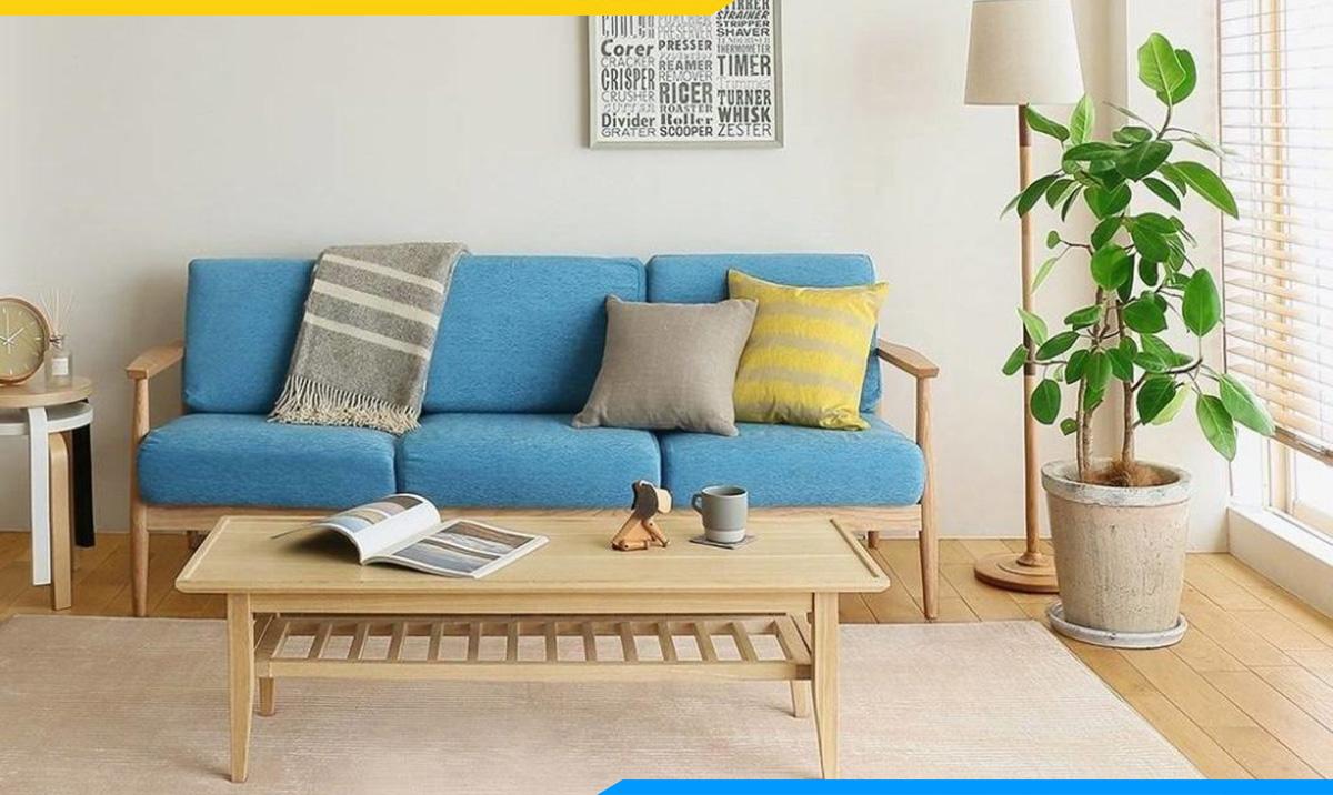 Sofa gỗ văng với phần nệm trẻ trung