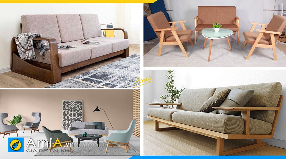 Mẫu sofa gỗ thiết kế thanh mảnh cho môi trường làm việc năng động